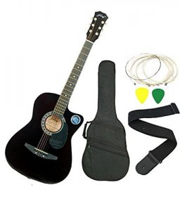 Jixing JXNG 6 Strings Acoustic Guitar (Black)