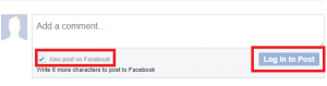 Comment box screenshot